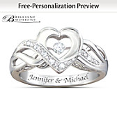 Dance Of Love Personalized Diamond Ring