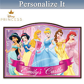 Disney Princess Personalized Welcome Sign