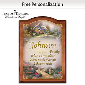 Thomas Kinkade Forever Family Personalized Welcome Sign