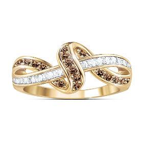 Luxury In Mocha Diamond Ring