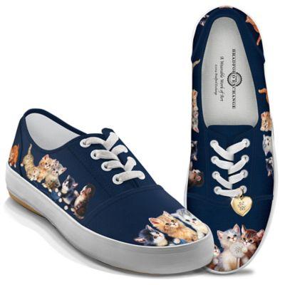 Jürgen Scholz Kitty-Kat Cute Women's Canvas Art Shoes by