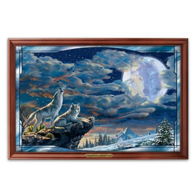 Adrian Chesterman Illuminated Wolf Art Stained Glass by