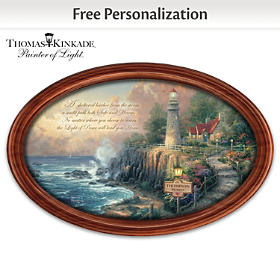 The Light Of Peace Personalized Collector Plate