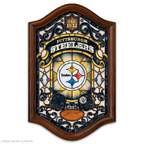 Pittsburgh Steelers Illuminated Stained-Glass Wall Decor