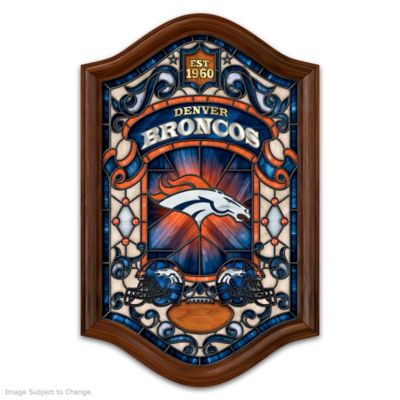 Denver Broncos Illuminated Stained-Glass Wall Decor by