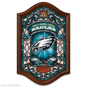 Philadelphia Eagles Illuminated Stained Glass Wall Decor