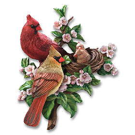 Cozy Cardinals Wall Decor