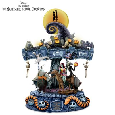 tim burtons the nightmare before christmas musical carousel lights up - Nightmare Before Christmas Pics