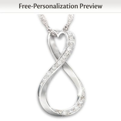 9892204a3 Forever Our Love Personalized Diamond Womens Pendant Necklace