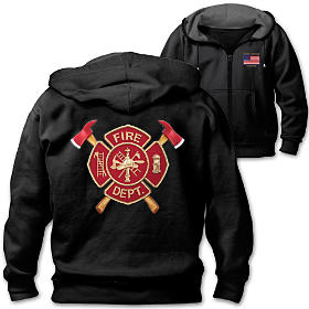 Firefighter Pride Men's Hoodie
