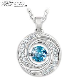 Swirls Of Sparkle Pendant Necklace