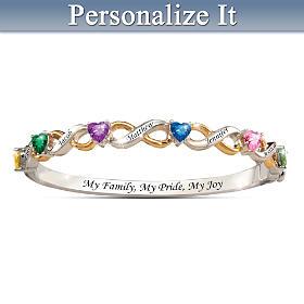 My Family, My Pride, My Joy Personalized Bracelet