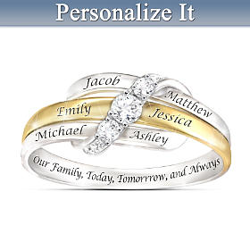 Our Family Forever Personalized Ring