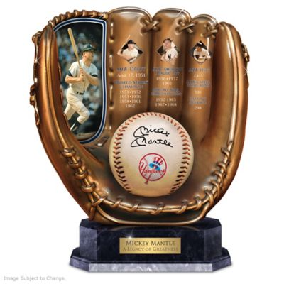 Mickey Mantle Commemorative Cold-Cast Bronze Glove by
