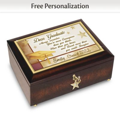 "Click here to buy ""Congratulations Graduate"" Personalized Heirloom Music Box."