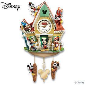 Disney Mickey Mouse Through The Years Cuckoo Clock