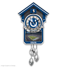 Indianapolis Colts Cuckoo Clock