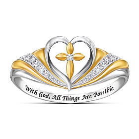 With Faith In My Heart Diamond Ring