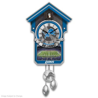 Detroit Lions Tribute Wall Clock by