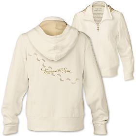 Footprints In The Sand Women's Hoodie