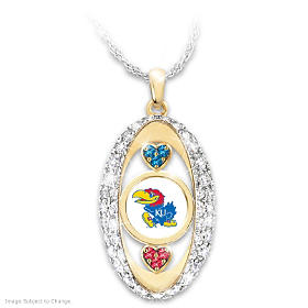 For The Love Of The Game Kansas Jayhawks Pendant Necklace