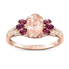 Champagne Delight Morganite And Diamond Ring