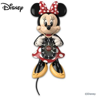 Disney Minnie Mouse Motion Clock With Moving Eyes And Tail by