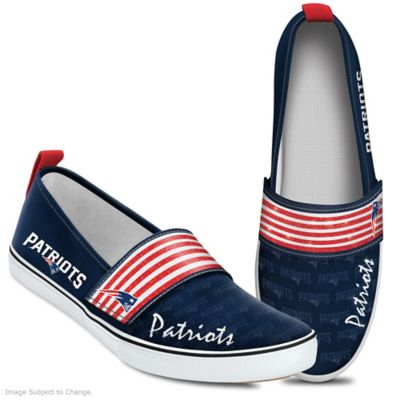 f19be8a888d4e3 Steppin Out With Pride NFL New England Patriots Womens Shoes