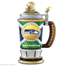 Seattle Seahawks Commemorative Porcelain Collector Stein