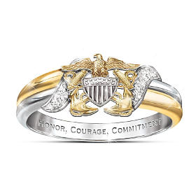 U.S. Navy Diamond Ring