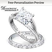 Princess Personalized Bridal Ring Set