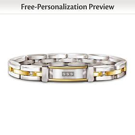 Today, Tomorrow, Always My Son Personalized Diamond Bracelet