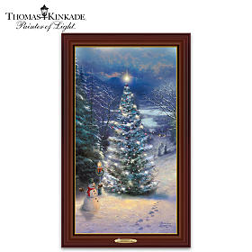 Thomas Kinkade O' Christmas Tree Wall Decor