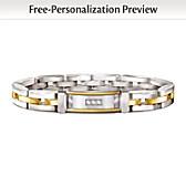 Today, Tomorrow, Always Father Personalized Diamond Bracelet