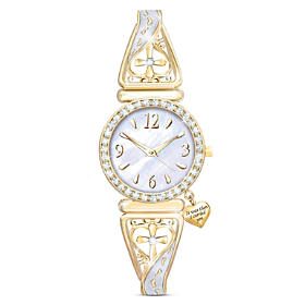 Footprints Of Faith Women's Watch