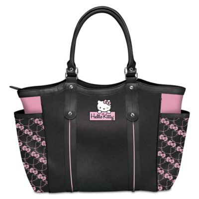 Exclusive applique patch hello kitty style icon shoulder tote bag - Coloriage hello kitty tete ...