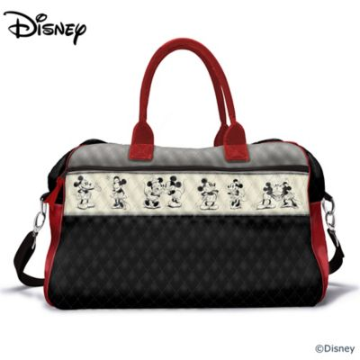 Disney Mickey Mouse And Minnie Mouse Quilted Weekender by