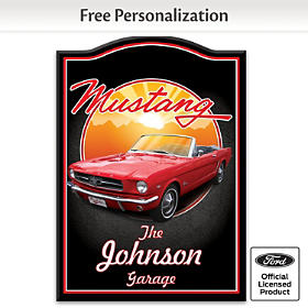 Mustang Personalized Welcome Sign
