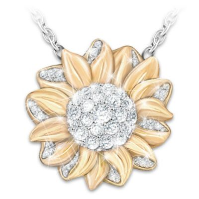 My granddaughter my sunshine sunflower pendant necklace aloadofball Gallery