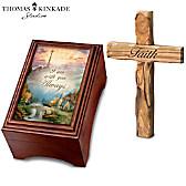 Thomas Kinkade Holy Land Olive Wood Prayer Cross