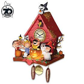PEANUTS Halloween Party Cuckoo Clock