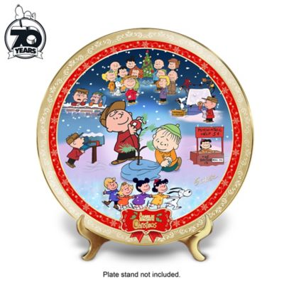 a charlie brown christmas 50th anniversary collector plate. Black Bedroom Furniture Sets. Home Design Ideas