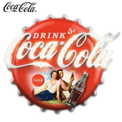 COCA-COLA Illuminated Marquee Sign Wall Decor by