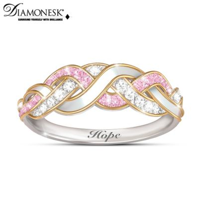 cancer womens stainless s jewelry support products organization awareness women limited rings steel wholesale of elegant pink ring breast for supply female