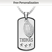 Sports Star Personalized Grandson Pendant Necklace
