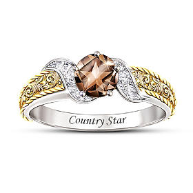 Country Star Quartz And Diamond Ring