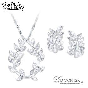 Glittering Goddess Pendant Necklace And Earrings Set