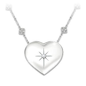 Mom's Message Of Faith Diamond Pendant Necklace