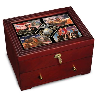 USMC Wooden Keepsake Box With James Griffin Artwork by