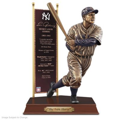 LOU GEHRIG New York Yankees Cold-Cast Bronze Sculpture by